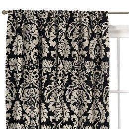 Black Window Curtains Target by Waverly 174 Damask Window Panel Black White Target