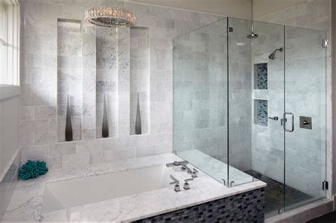 Carrara Marble Bathroom Floor by Bathroom Designs Bath Trends Westside Tile And