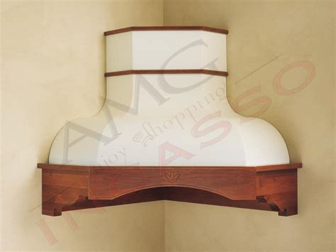 Cappa Rebecca Angolo G COMPRESA cornice legno grezza