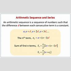 Arithmetic Sequences And Series (examples, Solutions, Videos