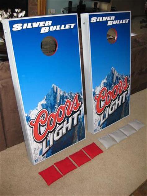 coors light corn hole amazon com coors light wrap set 2 decals 24x48 quot for