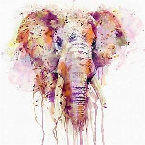 Elephant Mixed Media by Marian Voicu