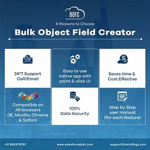 Bulk Object Field Creator Provides You 24x7 Call  Email