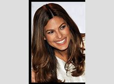 Eva mendes chocolate brown hair with subtle highlights