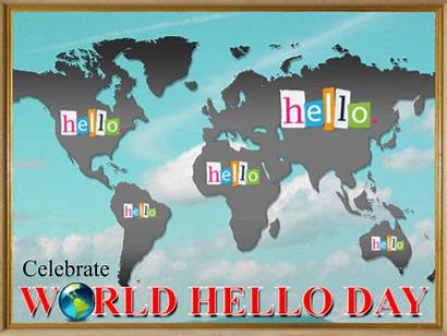 Hello Ecard Clouds Celebrate Flying Card Cards