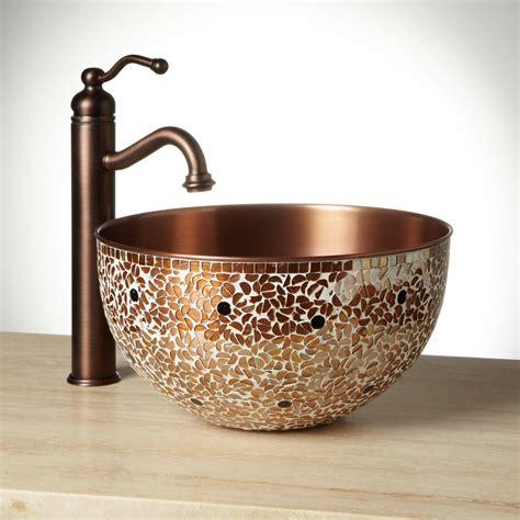 valencia mosaic copper vessel sink vessel sinks