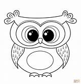 Owl Coloring Pages Printable Cartoon Adult Animal Supercoloring Super Books sketch template