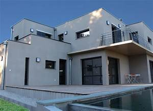 Façade Maison Moderne : facade de maison moderne mc immo ~ Melissatoandfro.com Idées de Décoration
