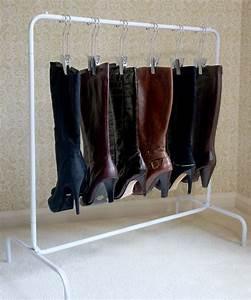 Closet, Shoes, Boots, Organizer, 6, Silver, Hangers, Shoe, Storage, Unit, Boot, Rack, New