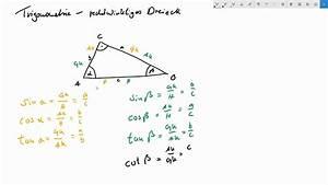 Sinus Cosinus Berechnen : winkel berechnen am rechtwinkligen dreieck trigonometrie ~ Themetempest.com Abrechnung