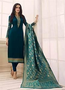 Ayesha Name Design Party Wear Straight Cut Latest Punjabi Suit Designs 2018