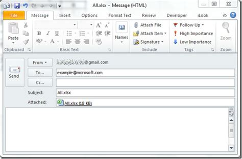adding outlook email tool  excel
