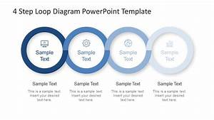 4 Step Loop Diagram Powerpoint Template