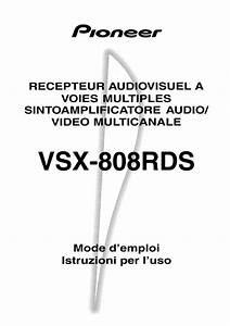 Notice Pioneer Vsx-808rds