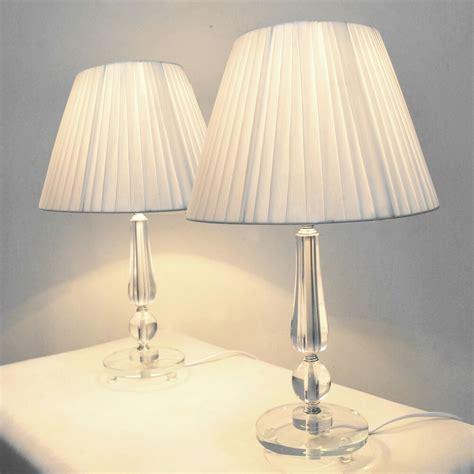 pair   bedside table designer modern lamps ebay