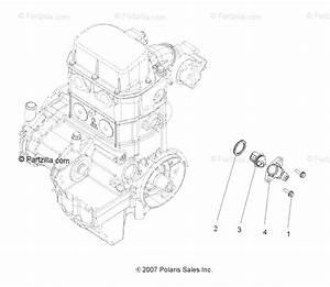 Polaris Atv 2009 Oem Parts Diagram For Engine  Cooling