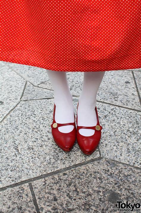 japanese girl  panama boy top red dress