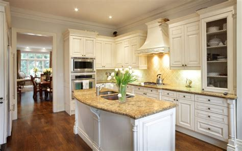 white cabinets with beige countertop 35 striking white kitchens with wood floors pictures