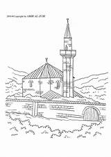 Mosque Coloring Pages Edupics sketch template