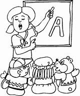Teacher Coloring Teachers Kindergarten Drawing Printable Teaching Student Ever Getdrawings Getcolorings Alphabet Results sketch template