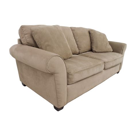 72% Off  Bauhaus Bauhaus Microfiber Tan Oversized Couch
