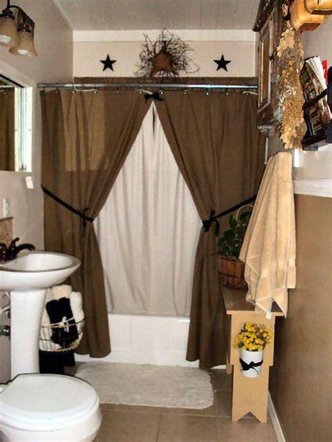 primitive bathroom ideas country bathroom decor like the decor above the shower