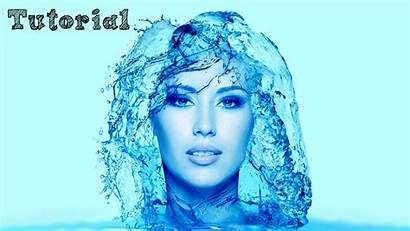 Photoshop Water Effect Portrait Tutorial English