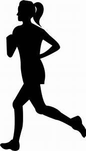 Clipart - Woman Running