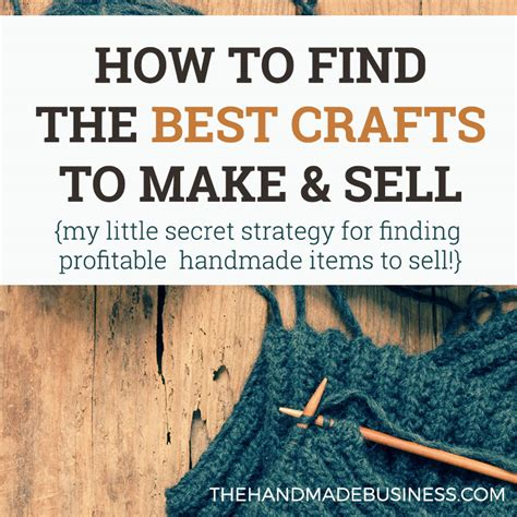 find   crafts    sell  secret strategy