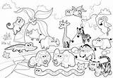Zoo Coloring Pages Animals Printable Everfreecoloring sketch template