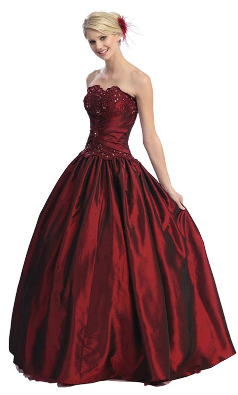 Ball Gown Strapless Formal Prom Dress #567 (18, White) [Apparel]