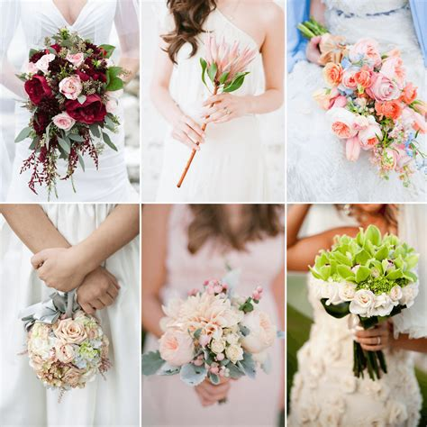 types  wedding bouquets fiftyflowers