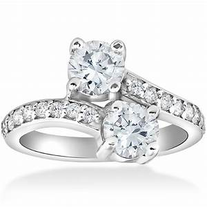 2 carat forever us two stone engagement diamond solitaire With forever wedding rings