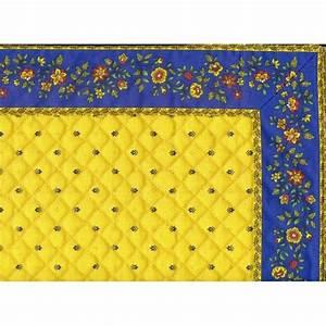 Set De Table Jaune : set de table exclusif cadr jaune bleu fleur bleu set de table proven al ~ Teatrodelosmanantiales.com Idées de Décoration