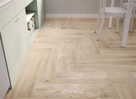 Basement Floor Heating Options by Wood Look Tiles