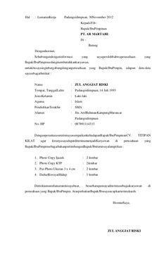 format surat lamaran kerja bahasa inggris ben