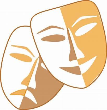 Masks Theatre Clip Clipart Vector Clker