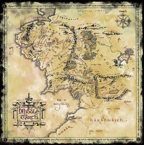 map  middle earth  lotr  hobbit jr