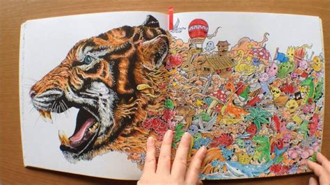 animorphia  kerby rosanes colouring book flipthrough