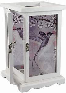 Glas Für Windlicht : elegantes glas windlicht vogel f r kerze und teelicht in wei shabby h 26cm ~ Markanthonyermac.com Haus und Dekorationen