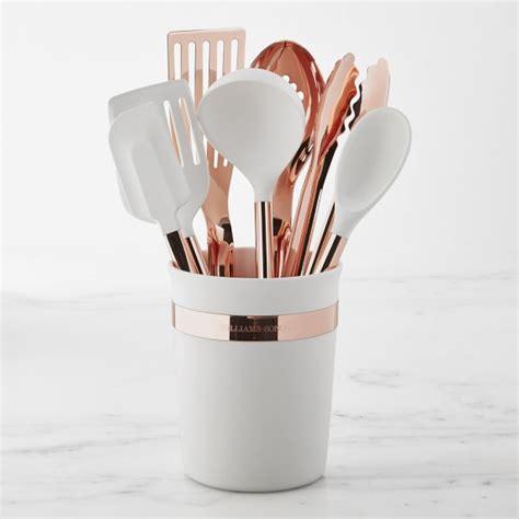 ultimate copper utensils set   williams sonoma