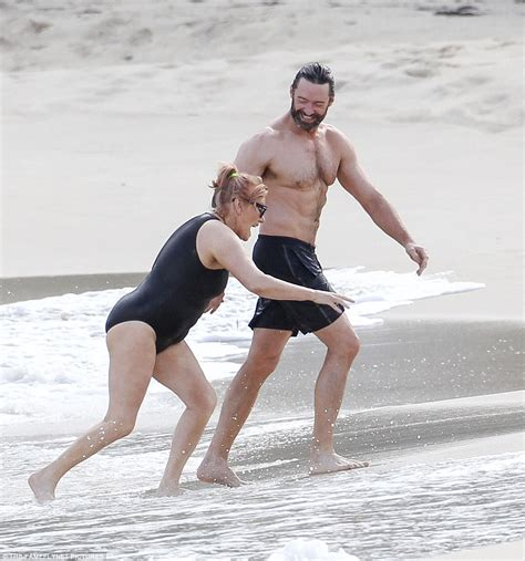 taron egerton swimsuit picture exclusive hugh jackman and deborra lee furness