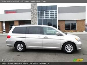 Silver Pearl Metallic - 2008 Honda Odyssey Ex-l - Gray Interior