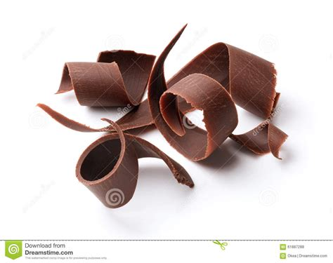 chocolate curls dark chocolate curls stock photo image of dessert background 61887288