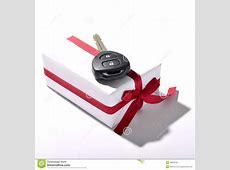 Car key and gift box stock photo Image of keys, ribbon