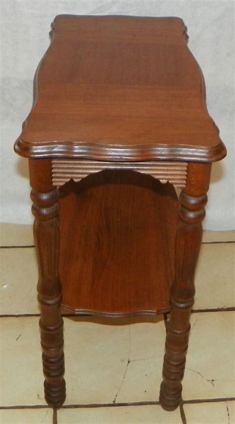 bookshelf end table walnut mahogany inlaid bookshelf end table side table