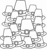 Coloring Pilgrim Hats Mayflower Printable Ship Drawing Thanksgiving Getdrawings Crafts sketch template