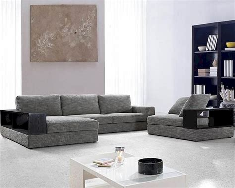 Moderne Sofas by Modern Grey Fabric Sectional Sofa Set 44l0739