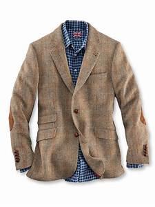 Klassische Englische Sakkos : fischgratsakko aus harris tweed in hellbraun von robertson ~ Jslefanu.com Haus und Dekorationen