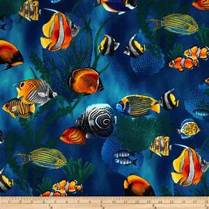 Island Sanctuary Sea Tropical Fish Cobalt - Discount